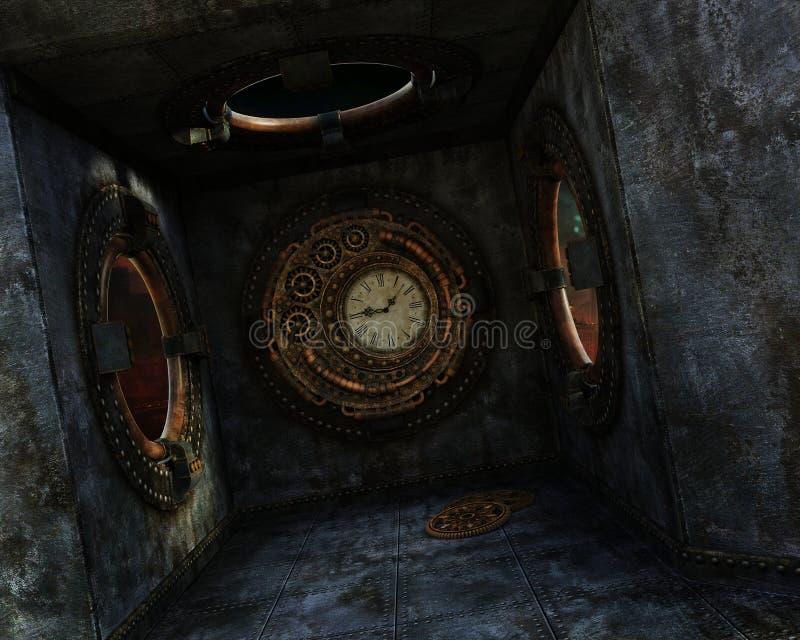 Tempo di Steampunk illustrazione vettoriale