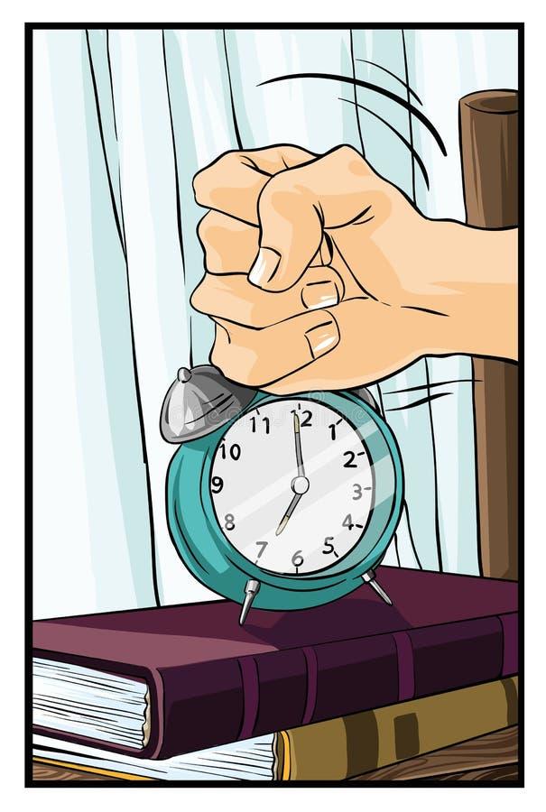 Tempo di svegliare illustrazione di stock