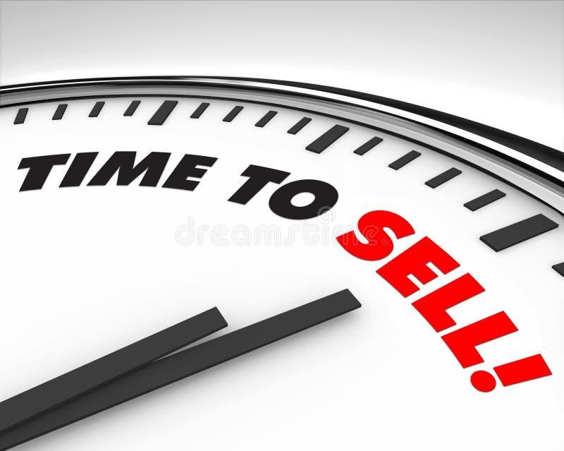 Tempo di vendere - orologio illustrazione vettoriale