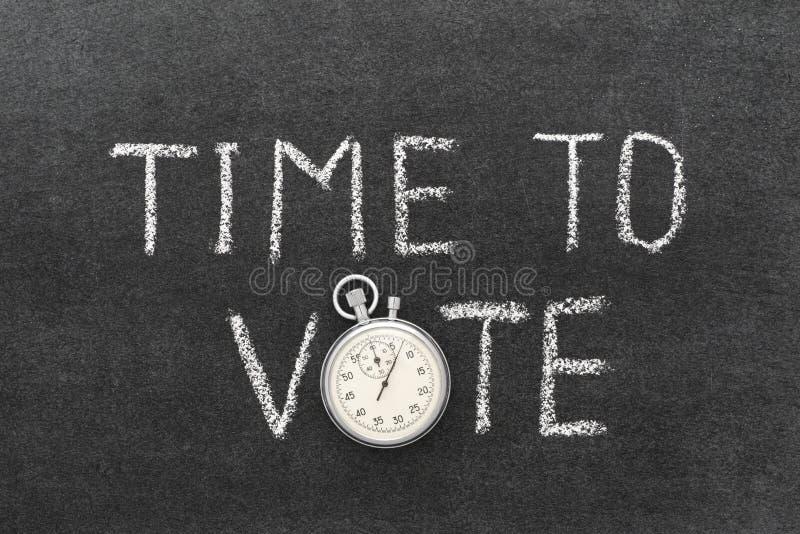 Tempo di votare immagine stock libera da diritti