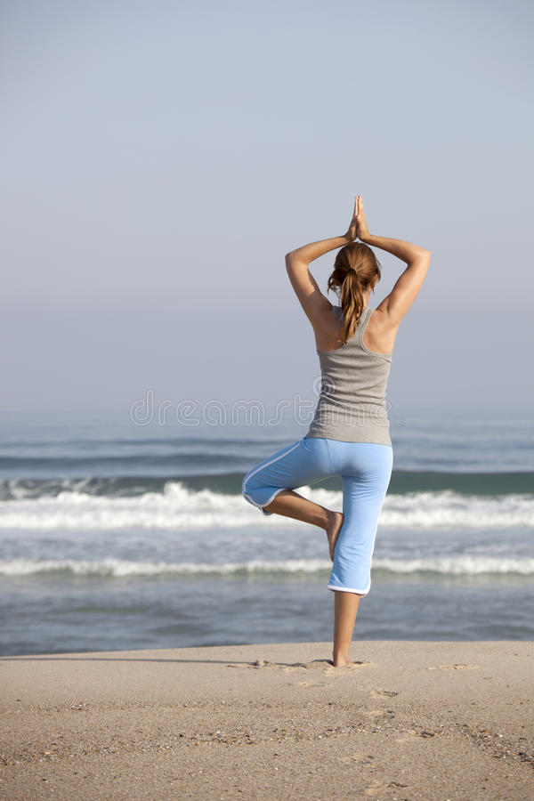 Tempo di yoga immagine stock
