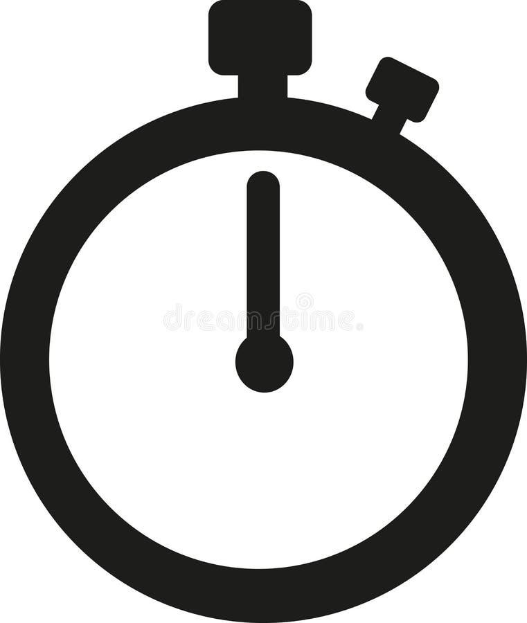 Tempo do ícone do cronômetro ilustração royalty free
