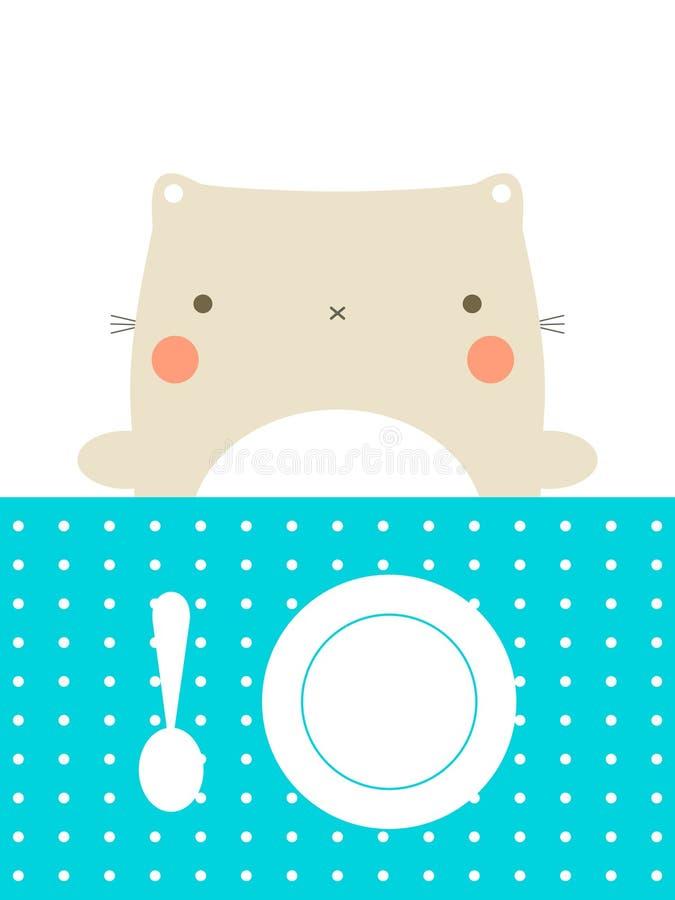 Tempo do almoço ilustração stock
