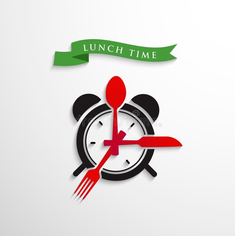 Tempo do almoço ilustração royalty free
