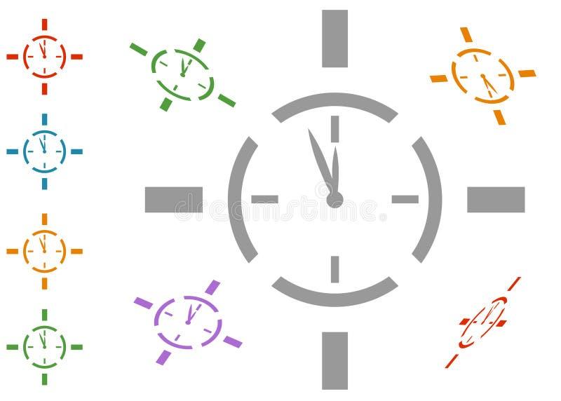 Tempo do alvo ilustração do vetor