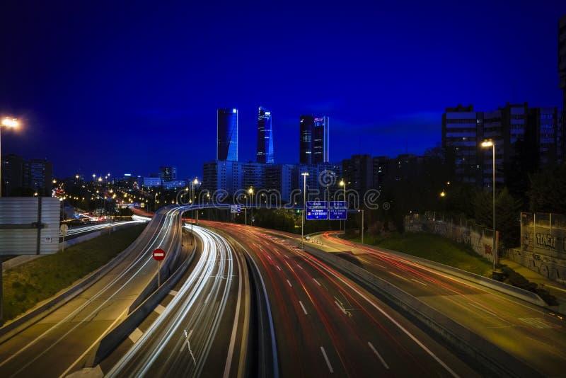 Tempo do azul do Madri fotos de stock