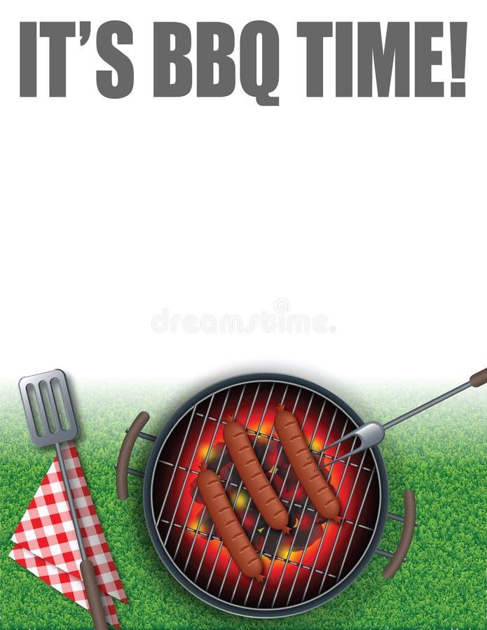 Tempo do BBQ imagem de stock