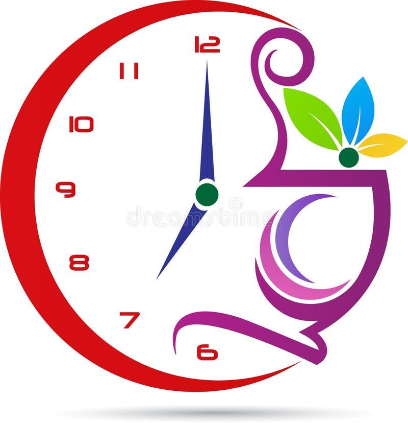 Tempo do café ilustração royalty free