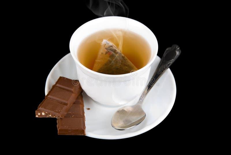 Download Tempo do chá foto de stock. Imagem de closeup, fundo - 10065356