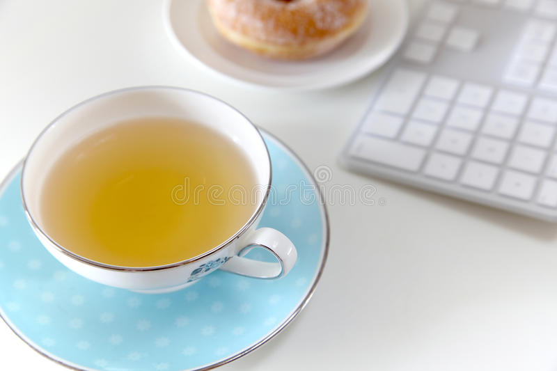 Tempo do chá fotografia de stock