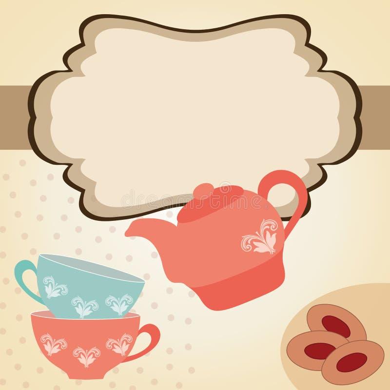 Tempo do chá ilustração royalty free