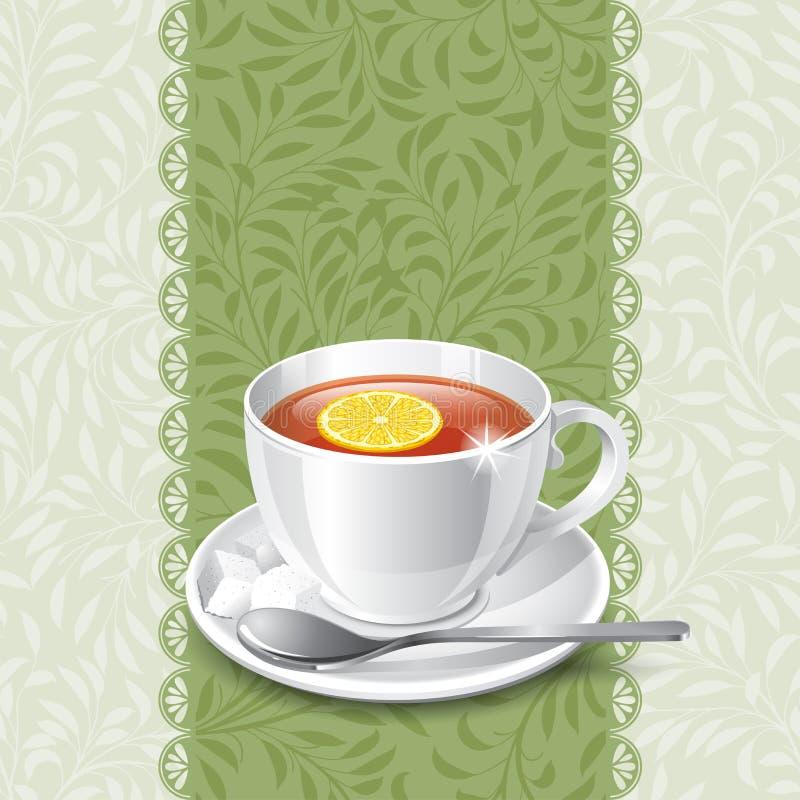 Tempo do chá ilustração stock