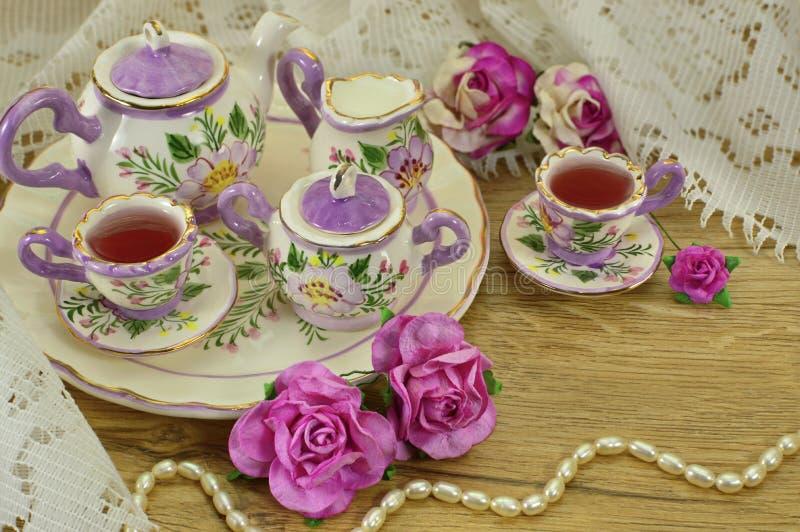 Tempo do chá imagens de stock