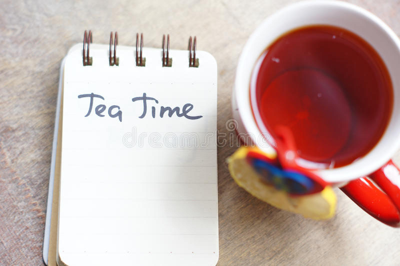 Tempo do chá foto de stock