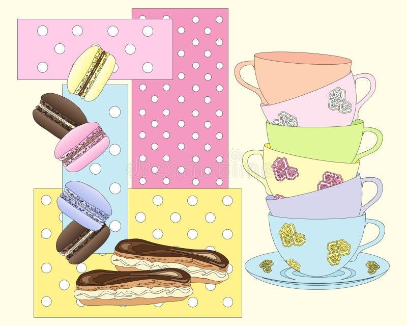 Tempo do chá ilustração do vetor