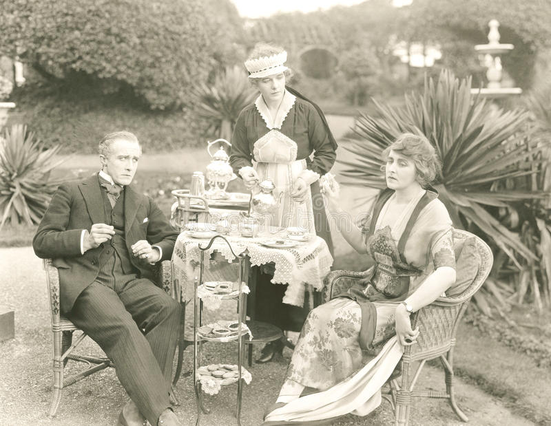 Tempo do chá alto fotos de stock royalty free