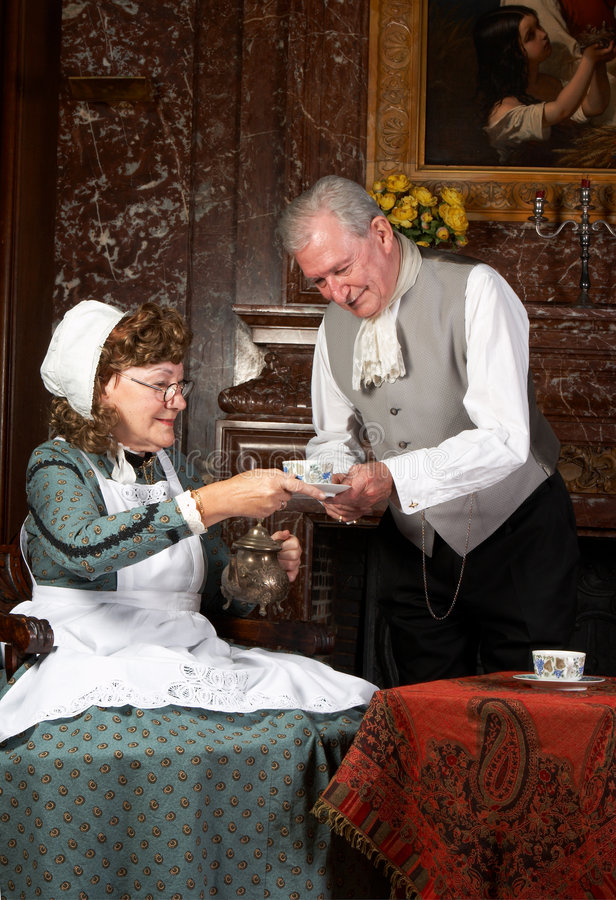Tempo do chá do Victorian imagens de stock royalty free