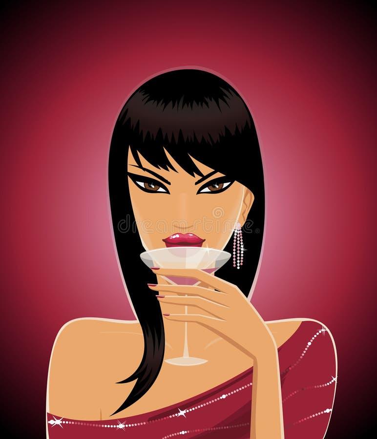 Tempo do cocktail ilustração do vetor