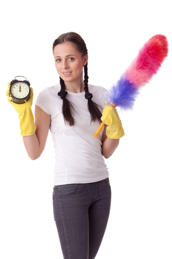Tempo do conceito para a limpeza. fotografia de stock royalty free
