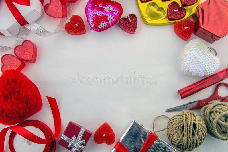 Tempo do dia de Valentim! Fundo decorativo imagem de stock royalty free