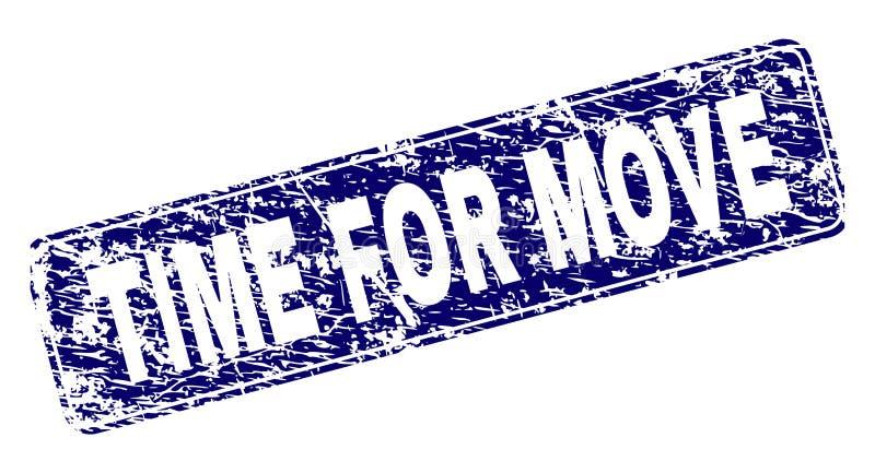 TEMPO do Grunge PARA o selo arredondado quadro MOVIMENTO do retângulo ilustração stock