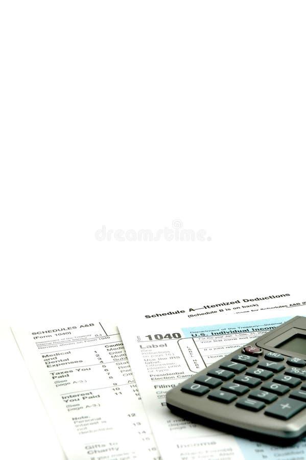 Tempo do imposto fotografia de stock