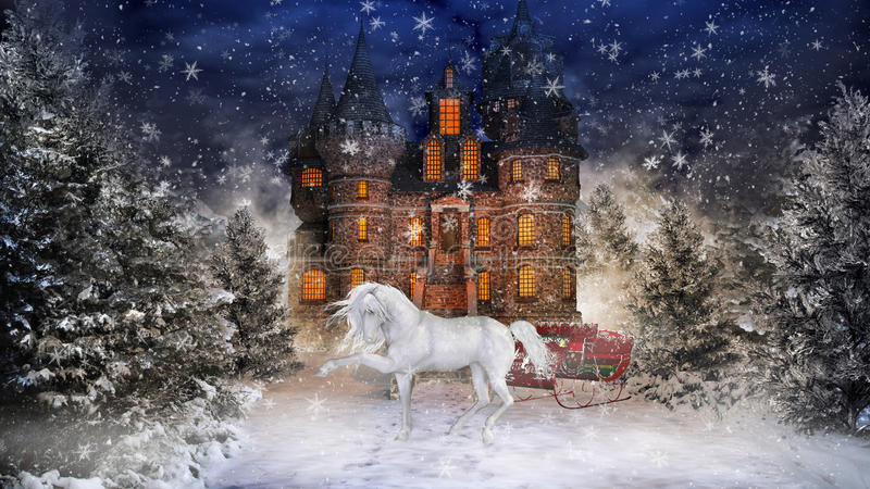Tempo 4 do Natal ilustração do vetor