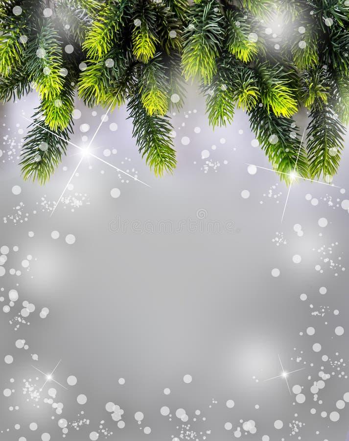 Tempo do Natal Projeto da beira do Natal ilustração do vetor