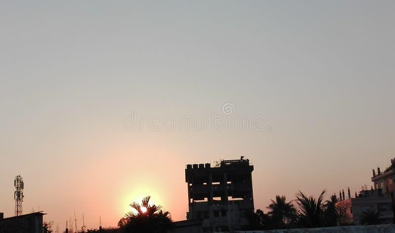 Tempo do pôr do sol fotos de stock