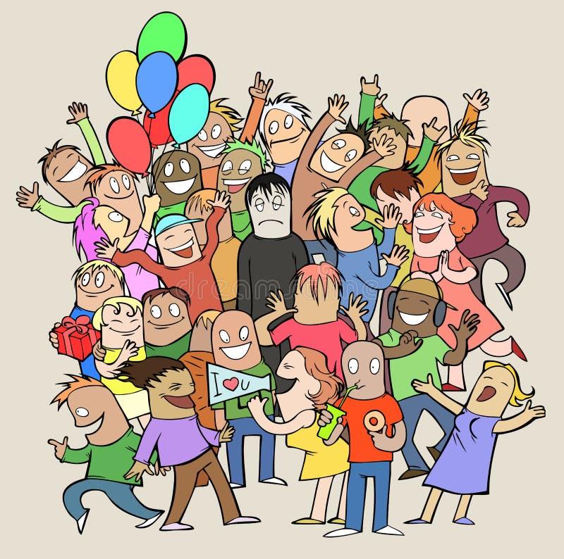 Tempo do partido ilustração royalty free