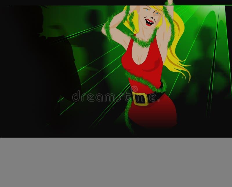 Tempo do partido no clube de Santa ilustração royalty free