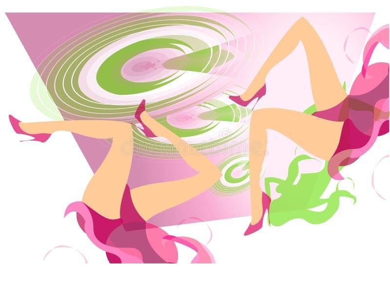 Tempo do partido no Discotheque ilustração royalty free