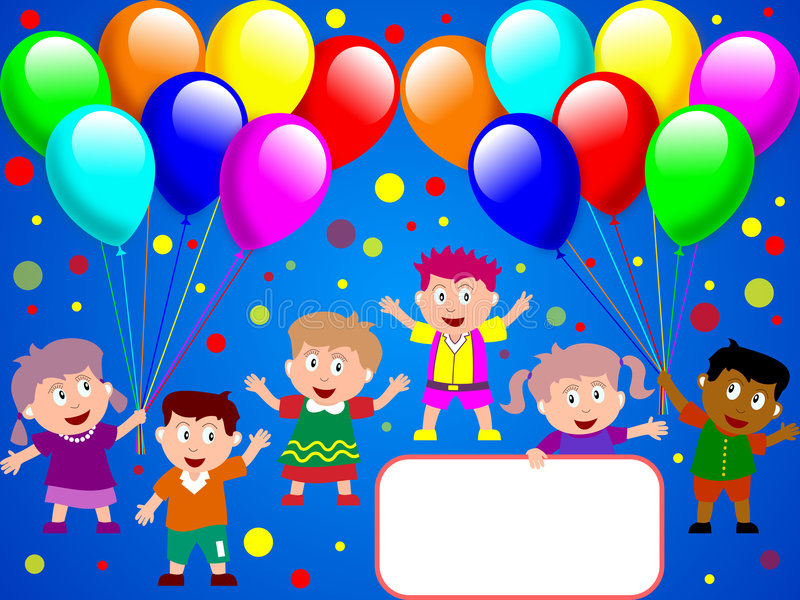 Tempo do partido para os miúdos [1] ilustração do vetor