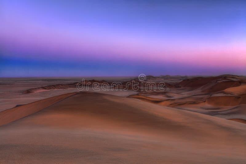 Tempo do por do sol em Namíbia imagem de stock royalty free