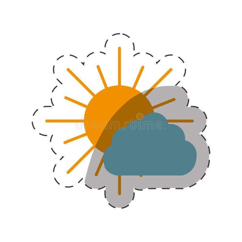 tempo do sol e da nuvem ilustração royalty free