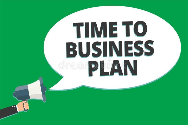 Tempo do texto da escrita ao plano de negócios Programação de organização do significado do conceito para o te da informação da i ilustração royalty free