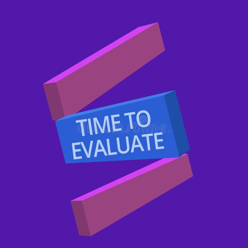 Tempo do texto da escrita avaliar A taxa do momento do significado do conceito usada antes dos produtos ou o serviço dão o feedba ilustração royalty free