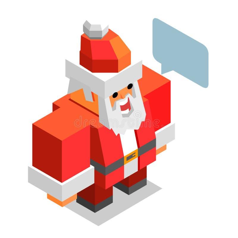Tempo do Xmas com Santa ilustração stock