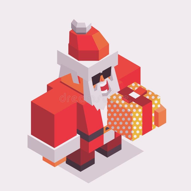Tempo do Xmas com Santa ilustração do vetor