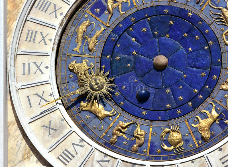 Tempo e astrologia antigos foto de stock
