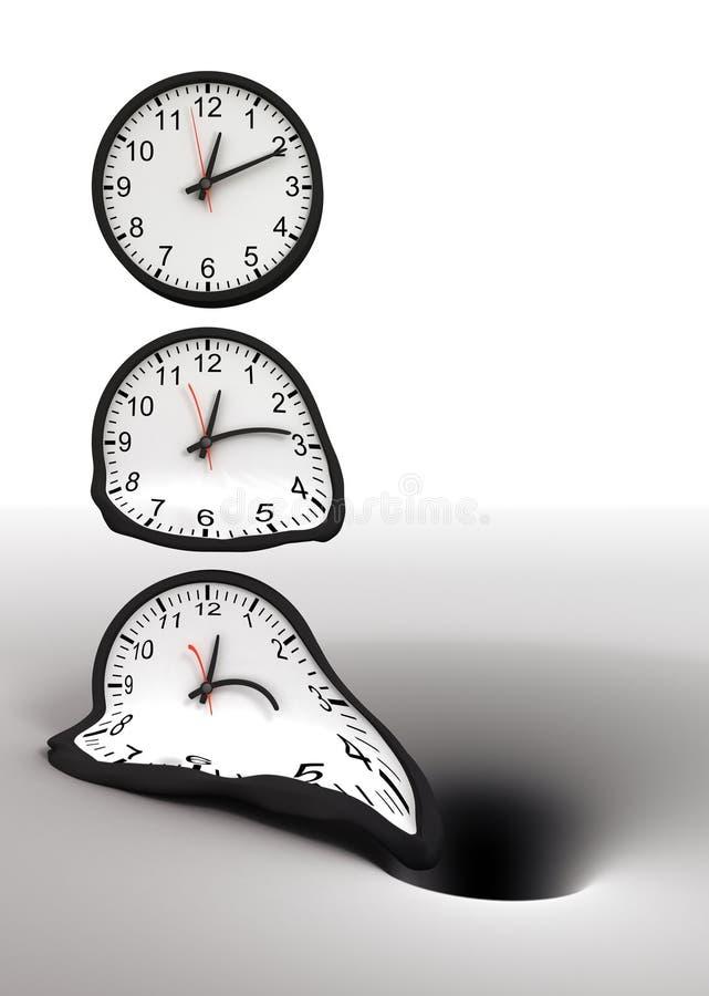 Tempo e buraco negro ilustração royalty free