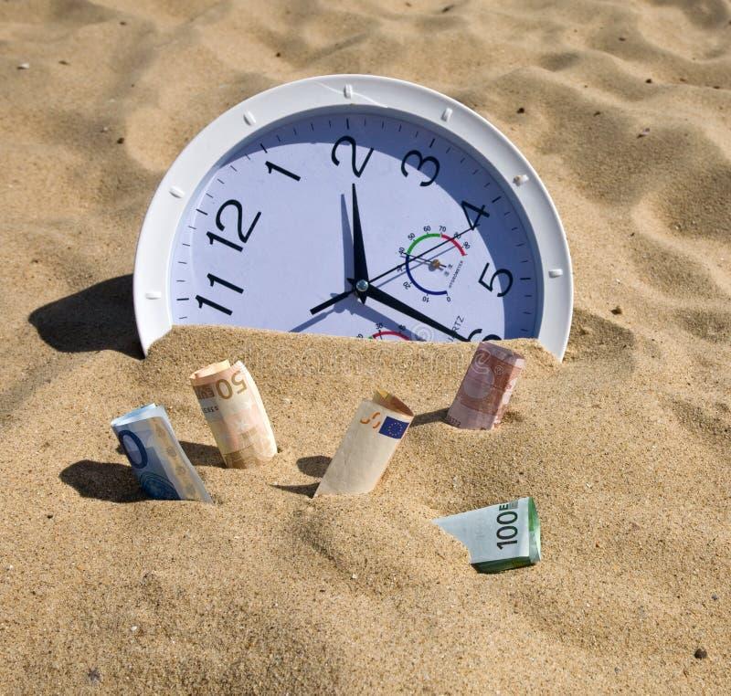 Tempo e conceito perdidos do dinheiro imagem de stock royalty free