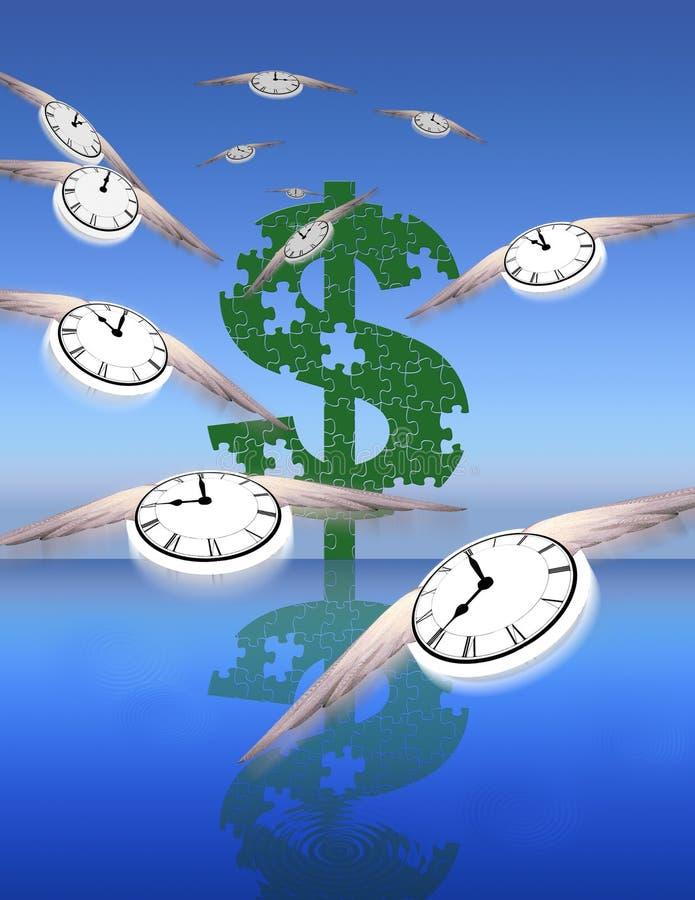 Tempo e dinheiro ilustração do vetor