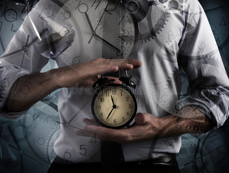 Tempo e sveglia fotografia stock libera da diritti