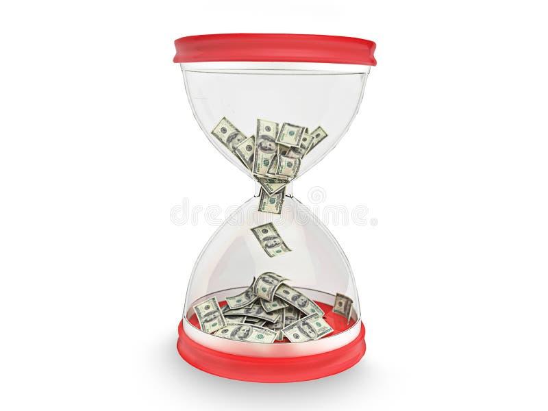 Tempo-está o dinheiro ilustração do vetor