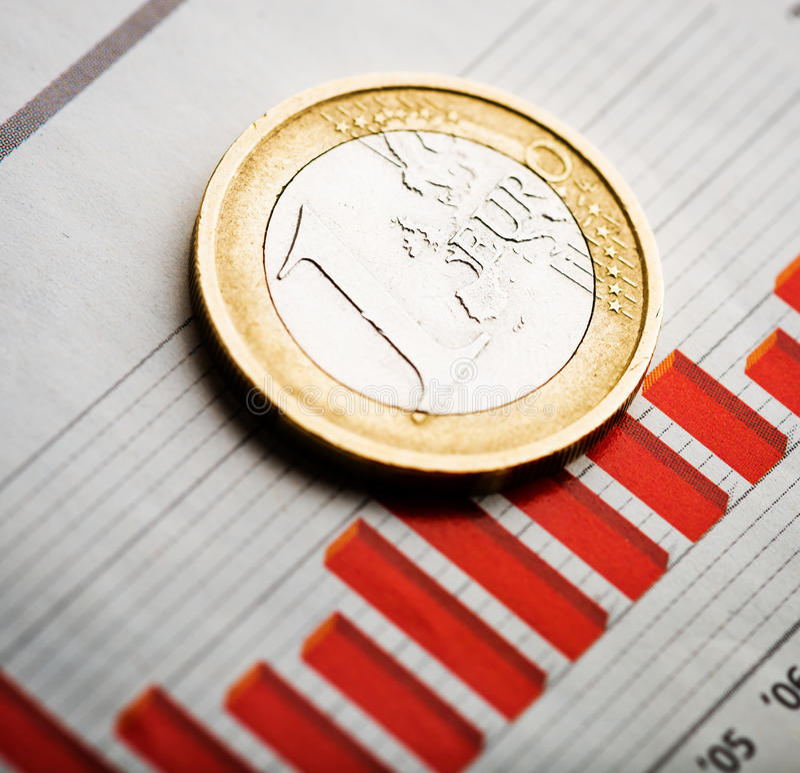 Tempo euro (płytki DOF) zdjęcie stock