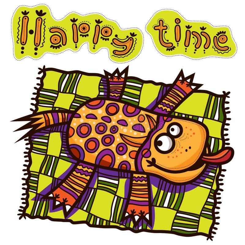 Tempo felice, l'animale irreale ha un resto royalty illustrazione gratis