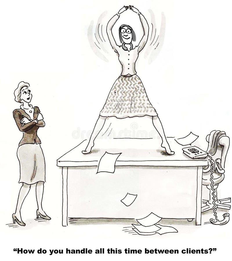 Tempo fra i clienti royalty illustrazione gratis