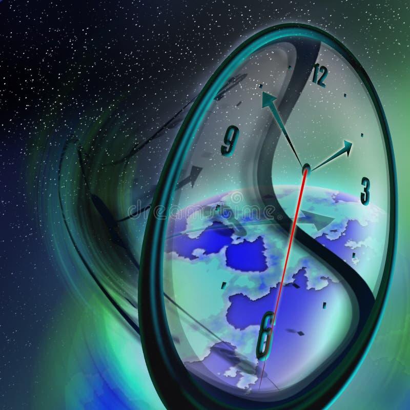 Tempo global ilustração stock
