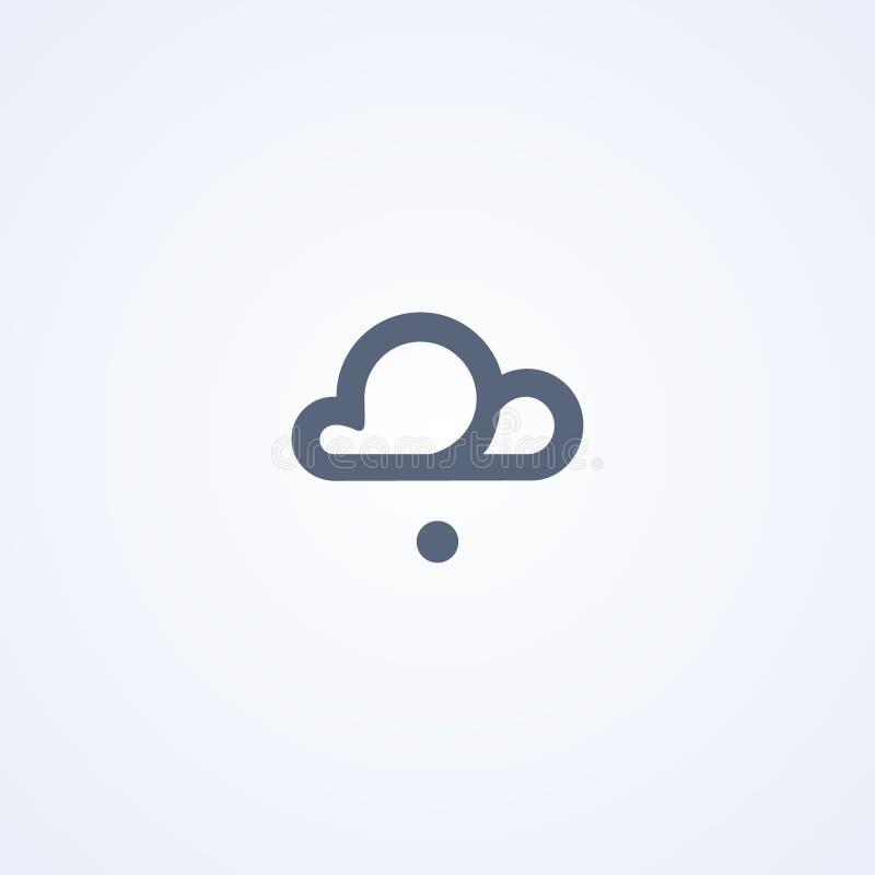 Tempo, grandine, migliore linea icona di vettore illustrazione vettoriale